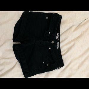 Target black midi rise shorts